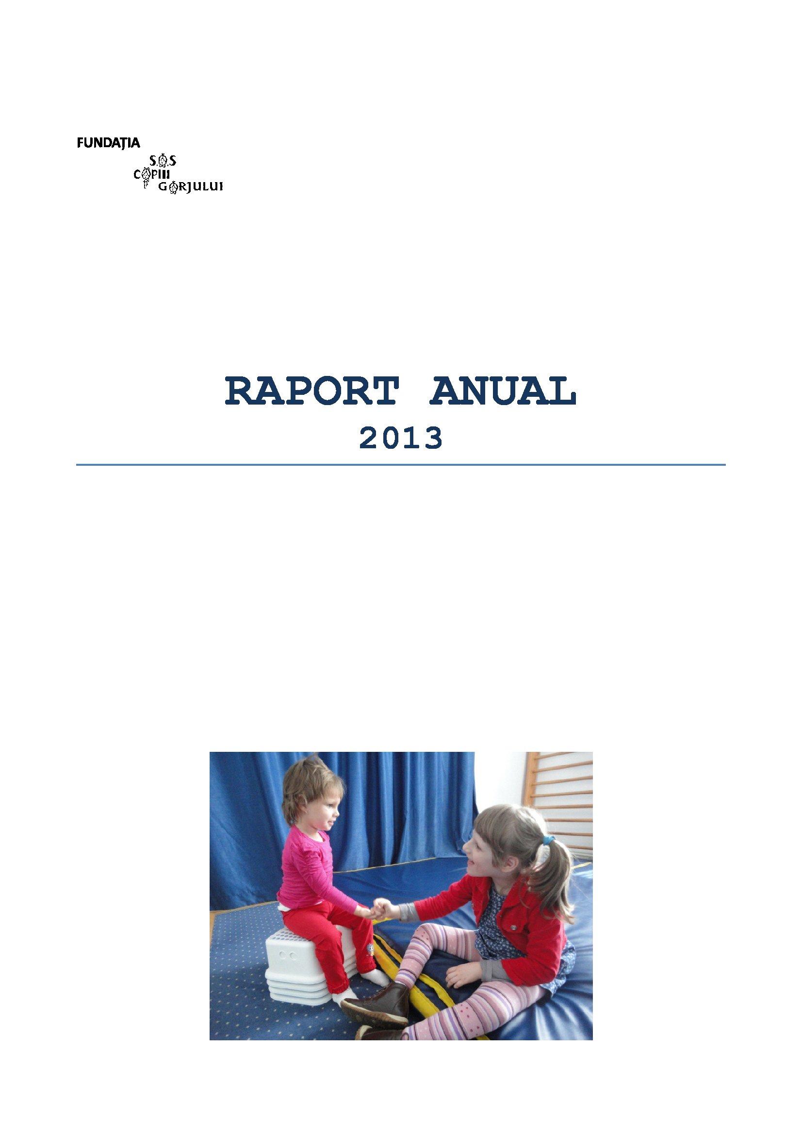 Copertă Raport 2013